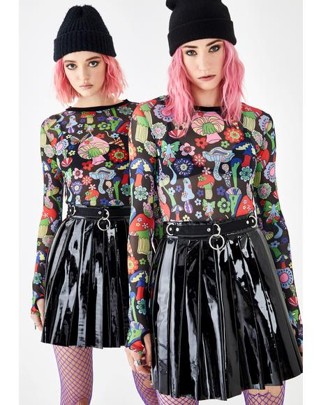 Killer Dress Code PVC Skirt