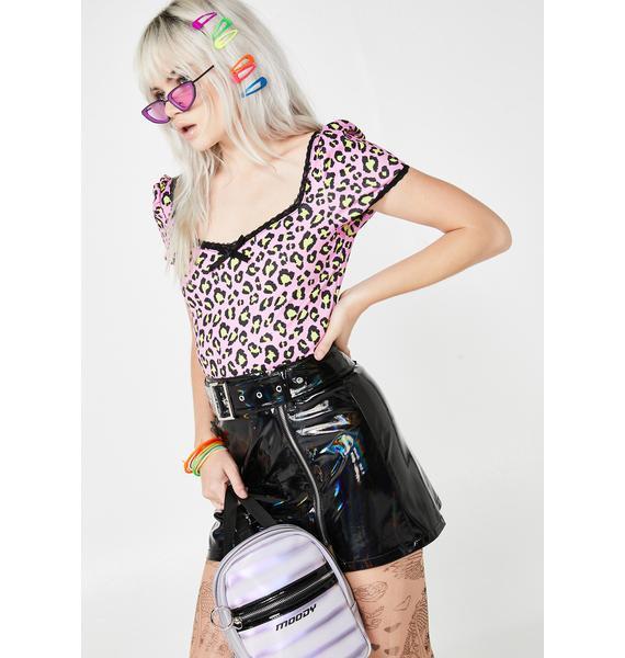 HOROSCOPEZ Catty Impulse Leopard Top