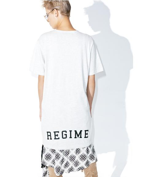 Creme Extended Zip Long Tee