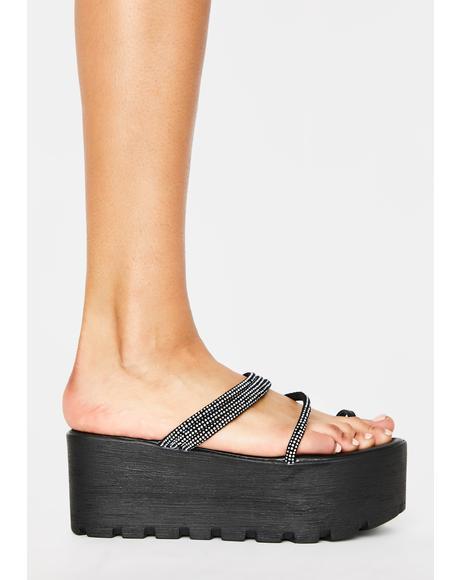 Black Toyama Platform Sandals