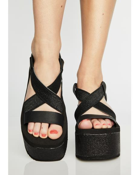 Stardust Bayer Platform Sandals