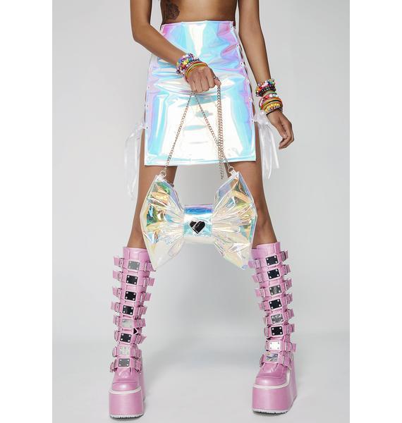 Betsey Johnson Irresistibly Iridescent Bow Crossbody Bag