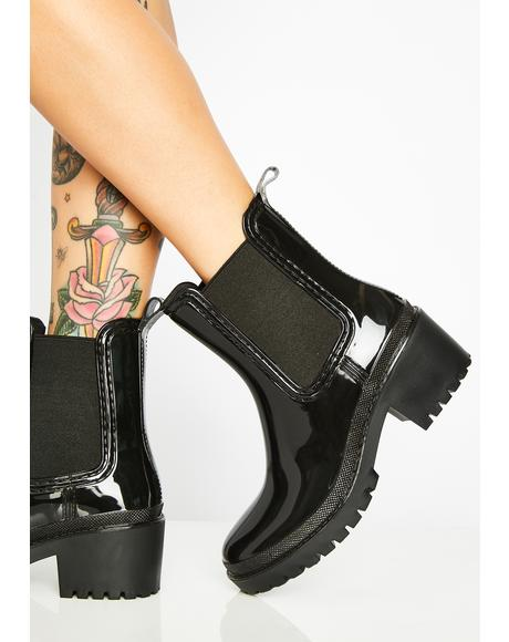 Splish Splash Patent Boots