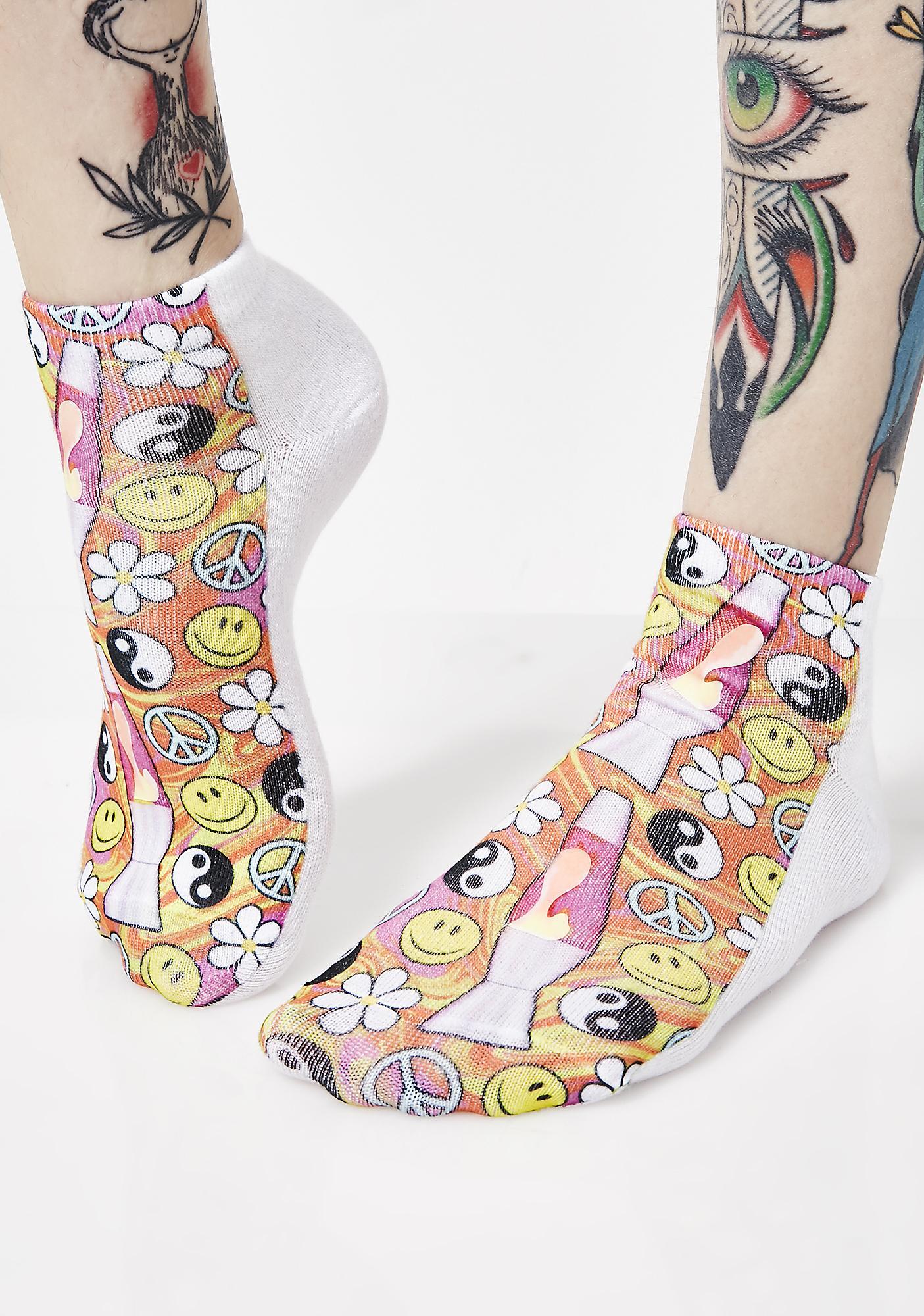 Feelin' Groovy Glow-In-The-Dark Socks