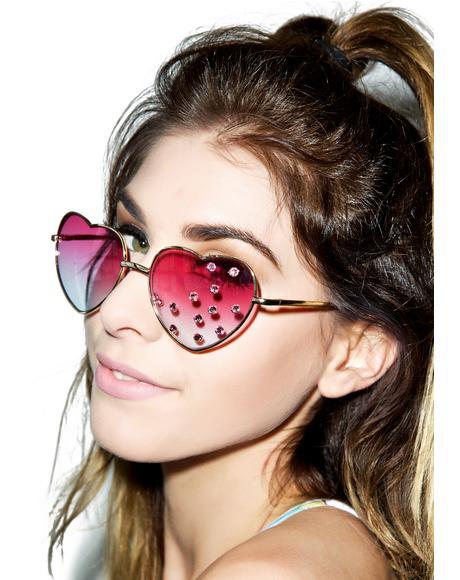 Pamela Heart Sunglasses
