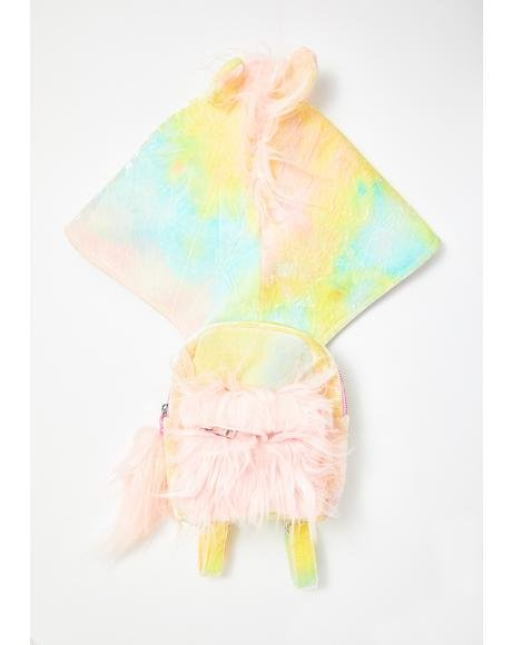 Kids Part Time Unicorn Hooded Backpack
