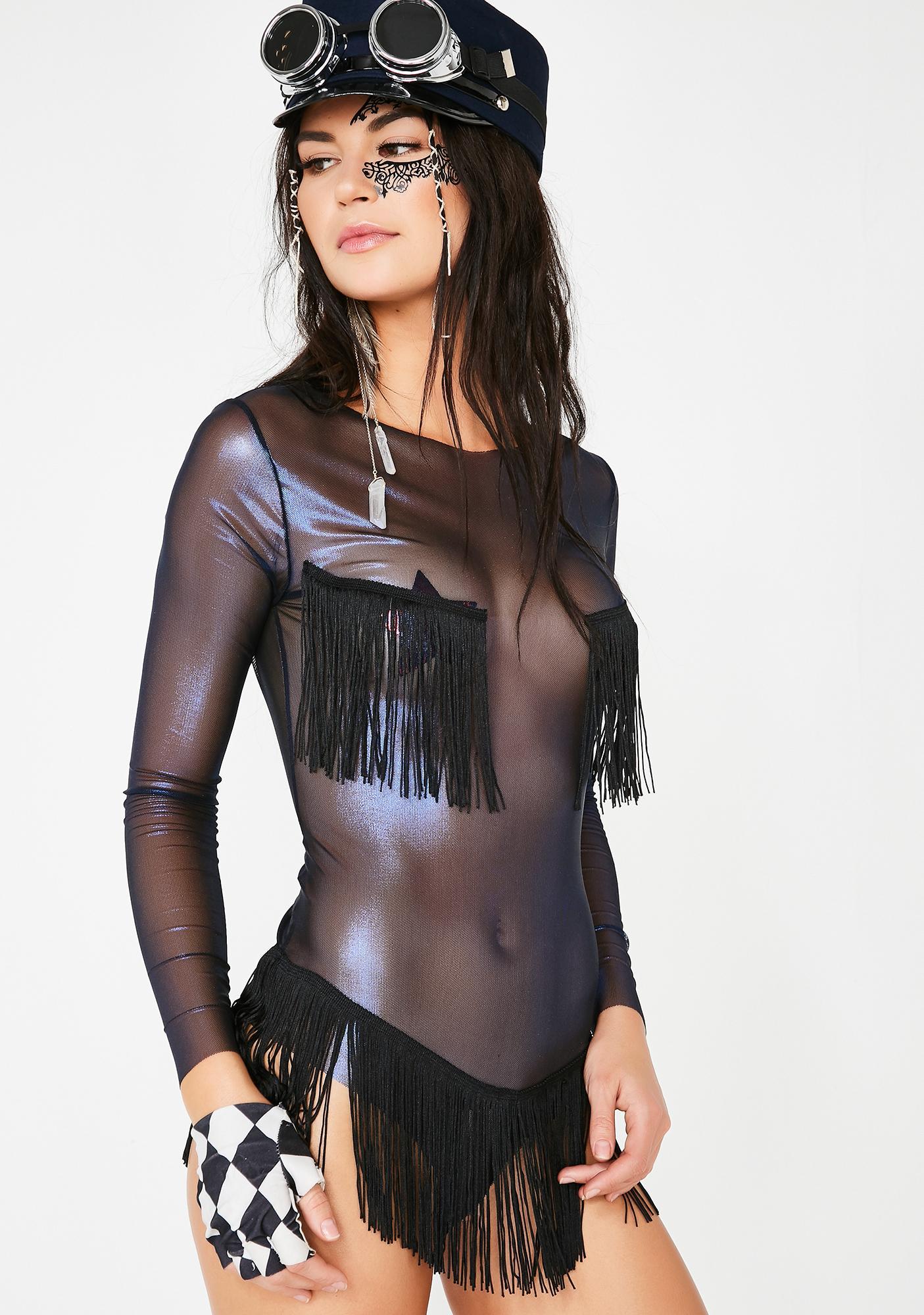 Shakedown Showgirl Fringe Bodysuit