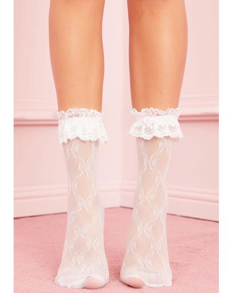 Chantilly Cream Ruffle Socks