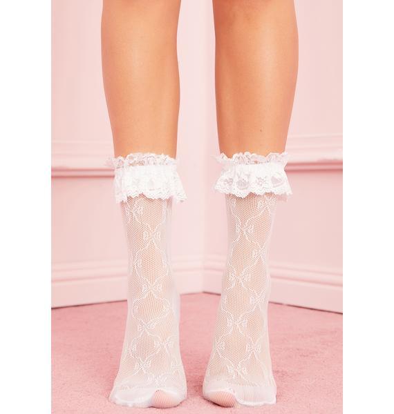 Chantilly Cream Ruffle Socks