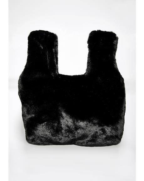 Onyx Living Luxe Faux Fur Bag