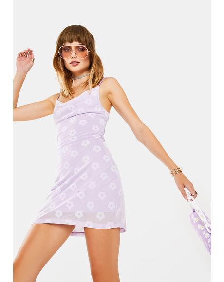 Lilac Daisy Becky Mini Dress