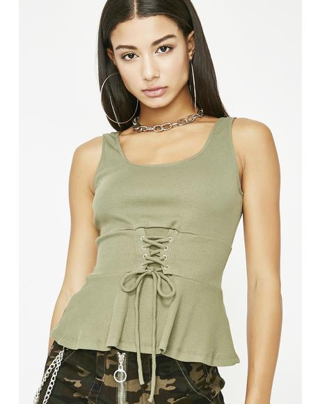 Olive I Am Her Corset Tank