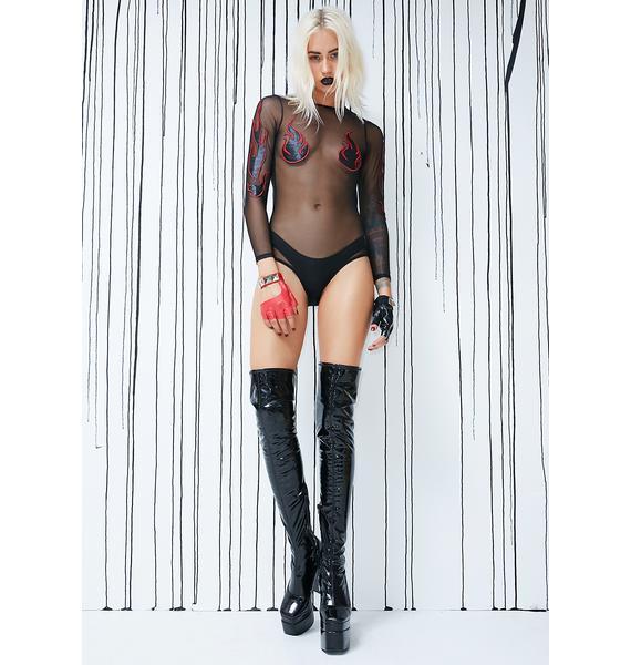 Club Exx Doomed Goddess Bodysuit