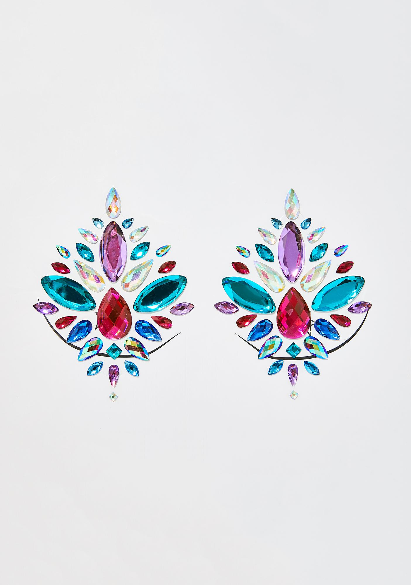 The Gypsy Shrine Confetti Rainbow Boob Jewels