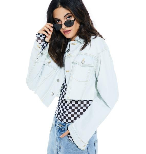 New Day Cropped Denim Jacket