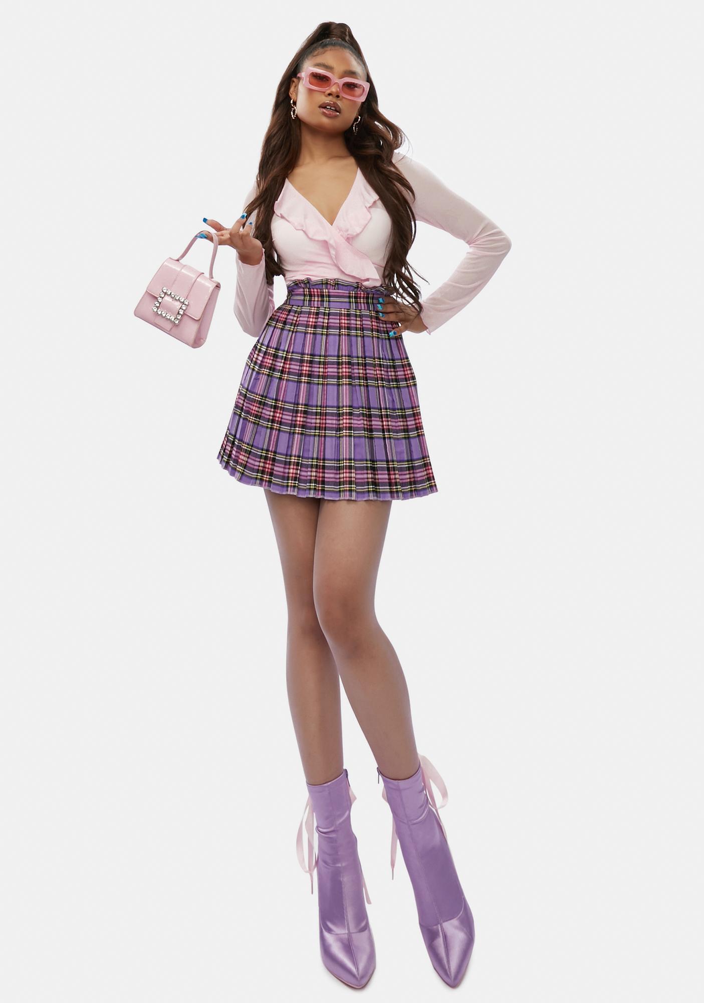 Sugar Got The Gossip Plaid Mini Skirt