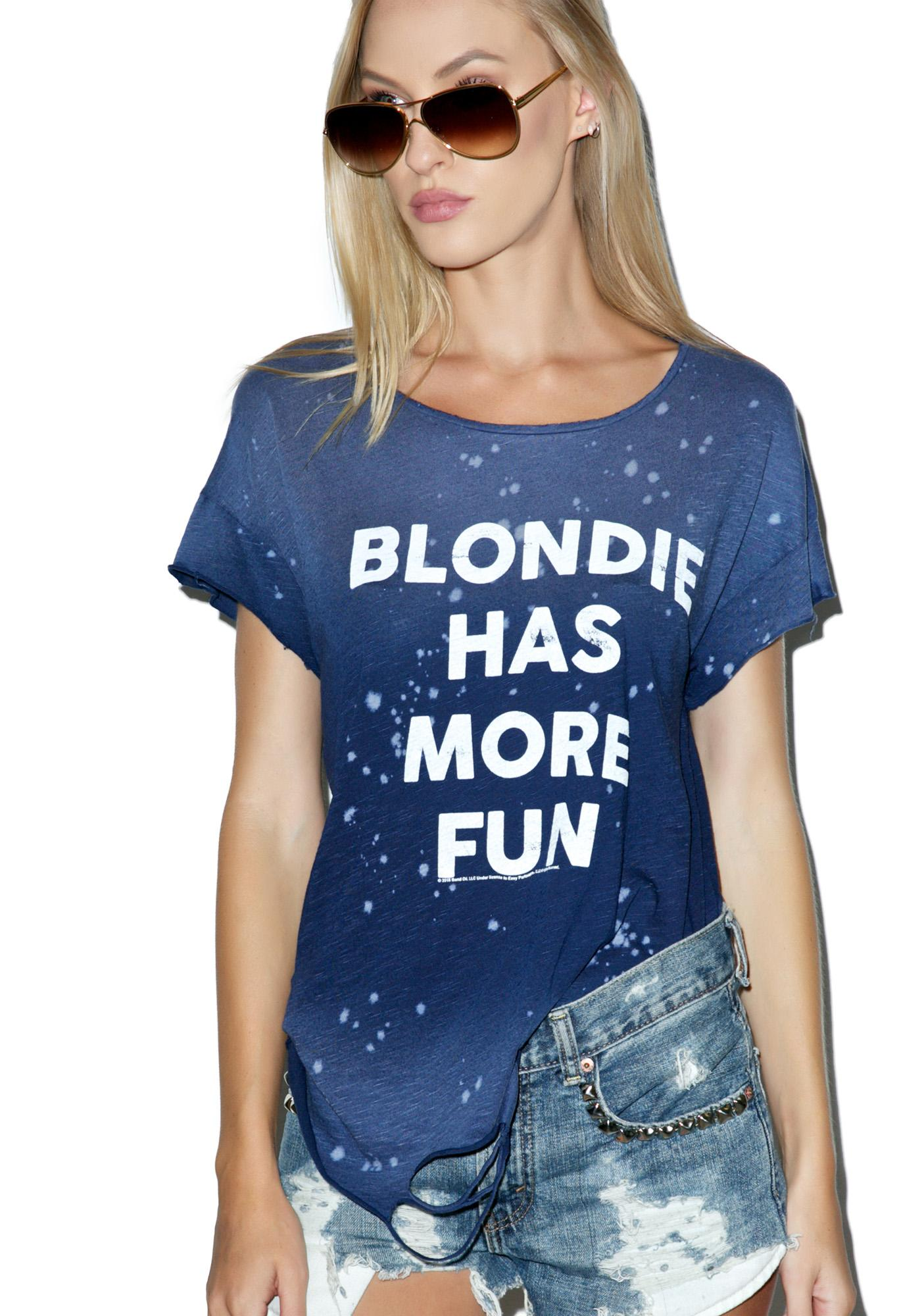 Junk Food Clothing Blondie Has More Fun Tee