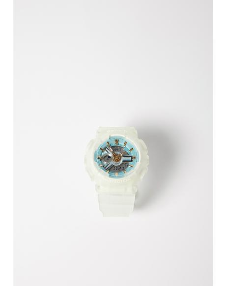 Baby G Sea Glass BA110SC-7A White Watch