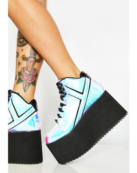 Qozmo Black Atlantis Platform Sneakers