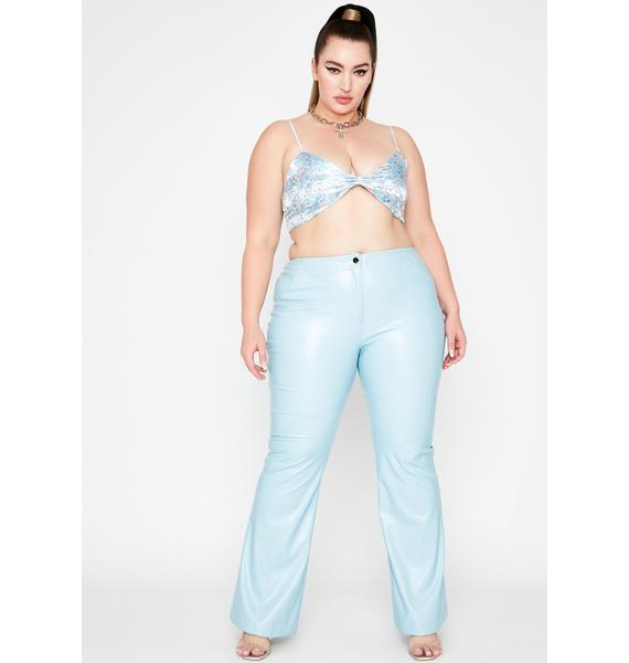Berry Lux Dreamer District Flare Pants