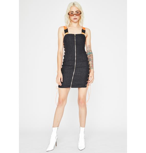 Wildin' Out Lace Up Dress