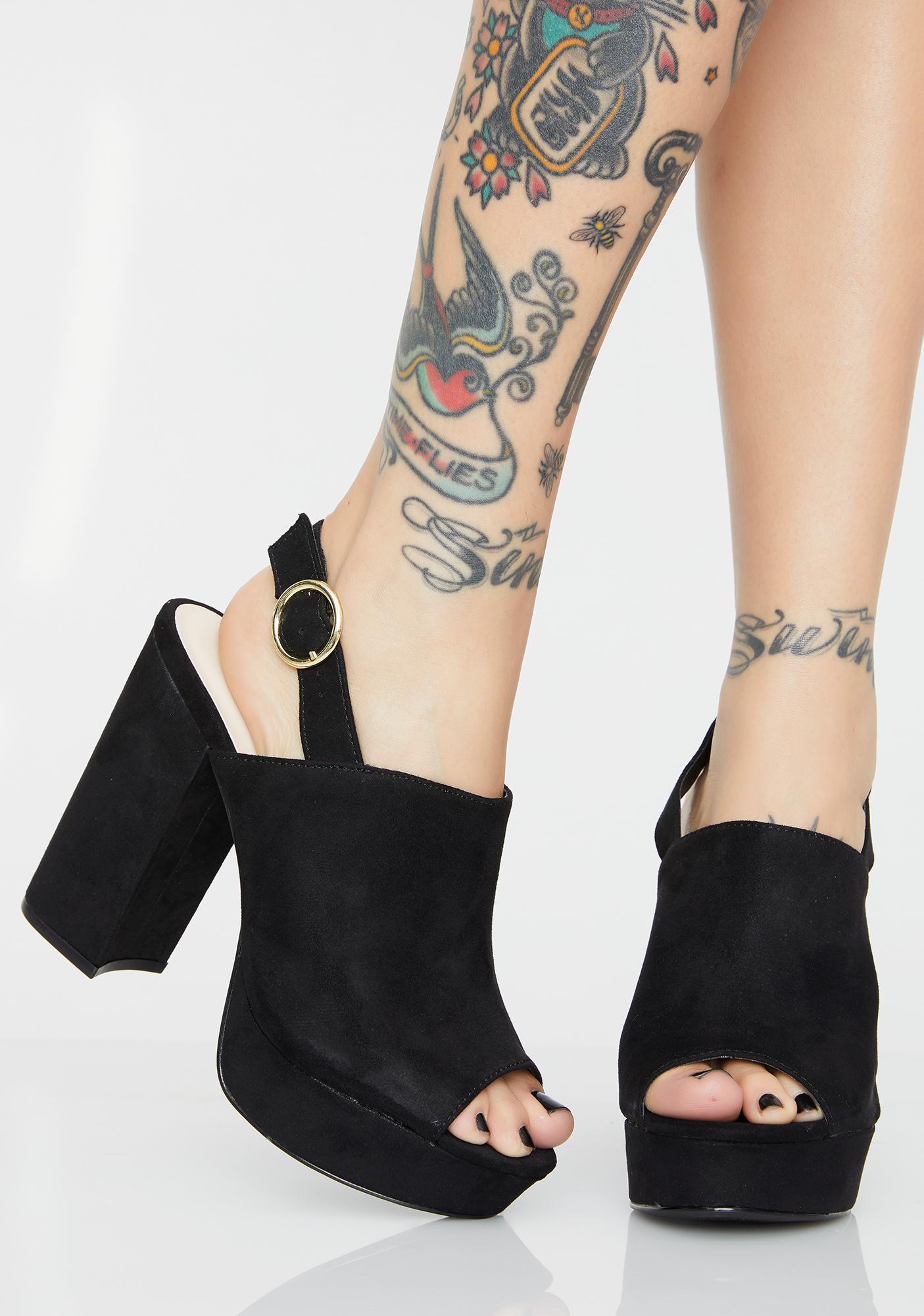 Rebel Raven Platform Heels