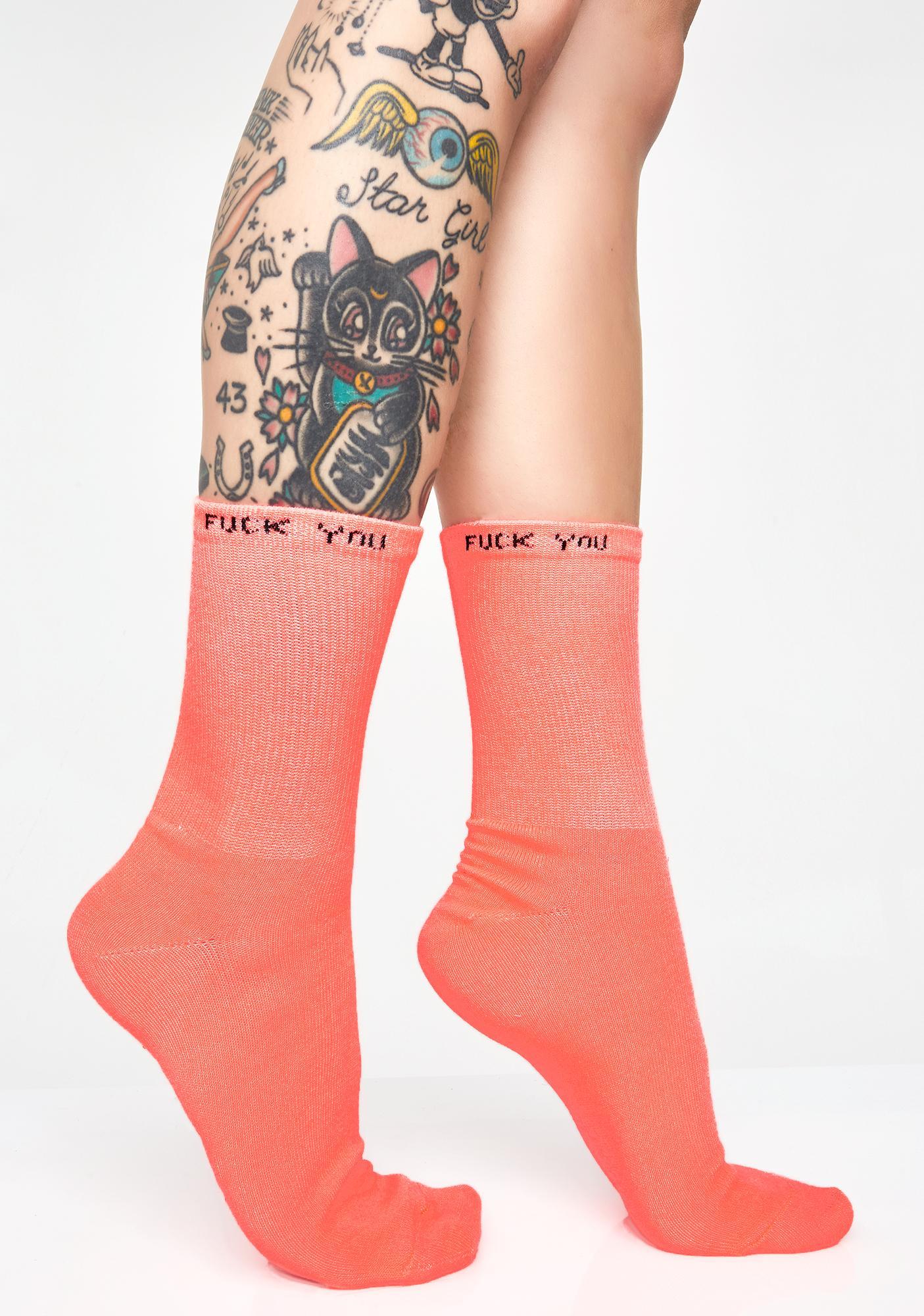 Rude Mood Neon Socks