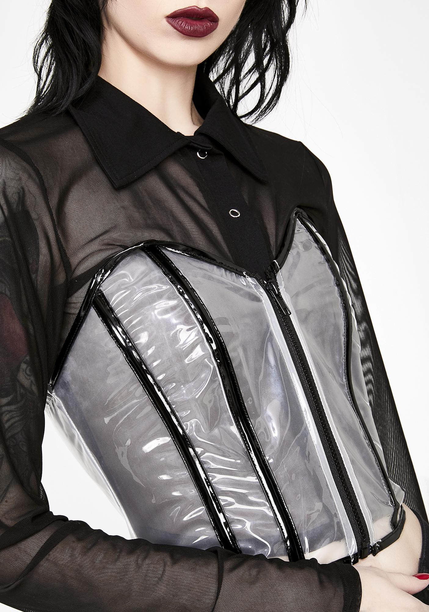 Lose Control Clear Bustier