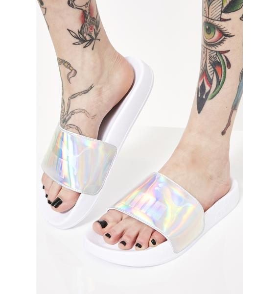 PUMA Iri Opalescent Leadcat Slides