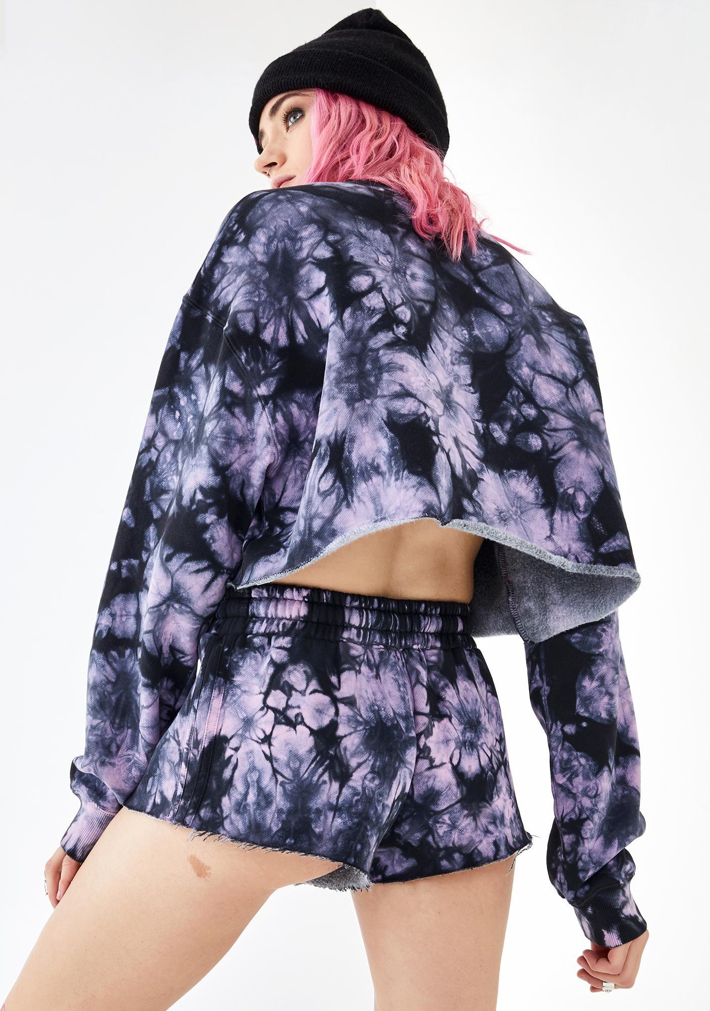 Current Mood Dark Dreams Tie Dye Shorts