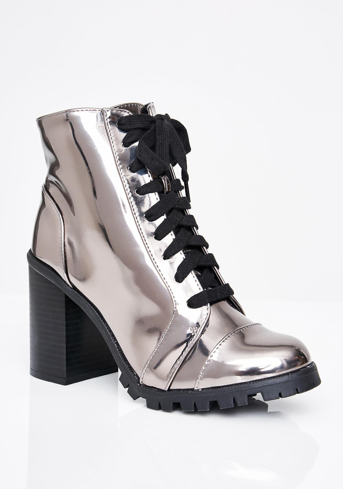 Fast Life Metallic Boots