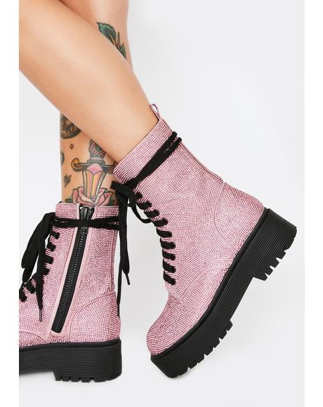 Pink Diamond Duchess Bling Boots