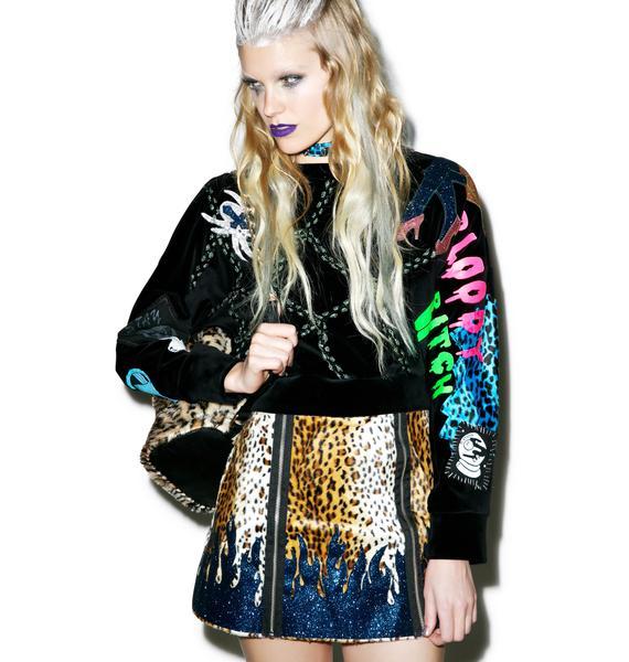 Indyanna Kat High Waisted Leopard Mini Skirt