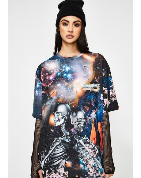 Robot Print Short Sleeve T-Shirt