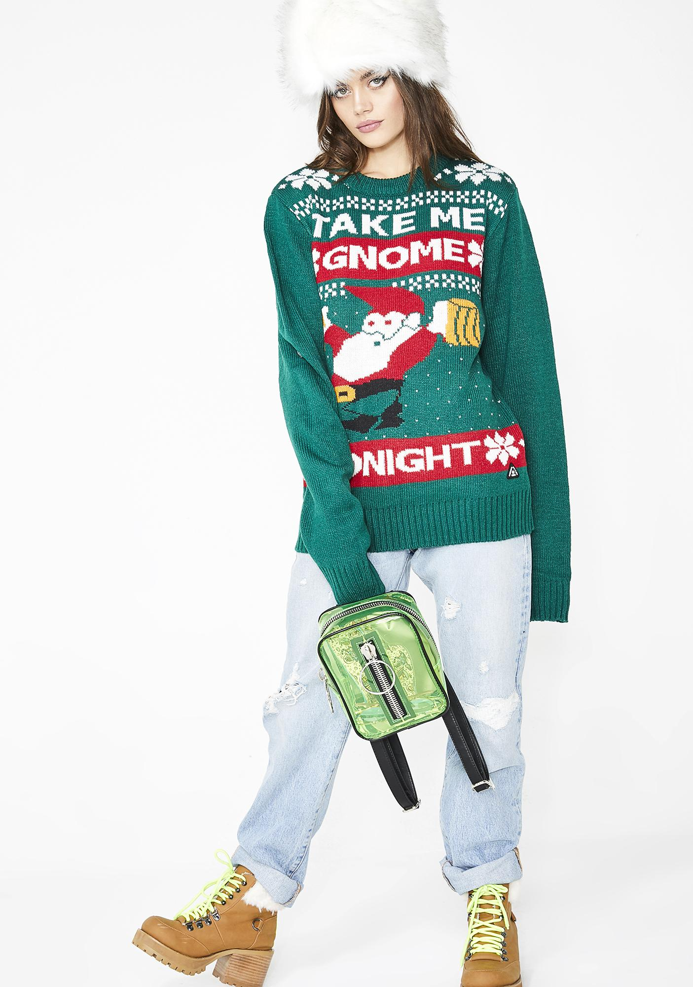 Take Me Gnome Tonight Sweater
