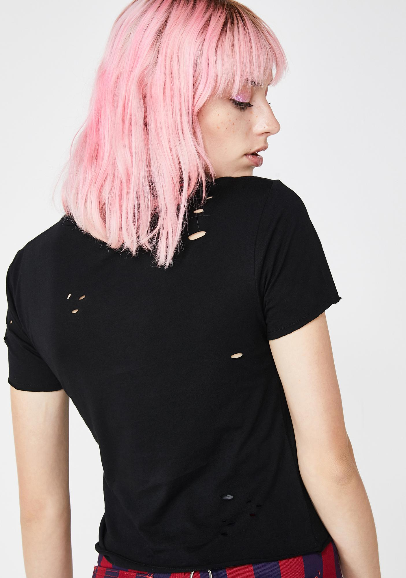 Lazy Oaf Bollocks Fitted T-Shirt