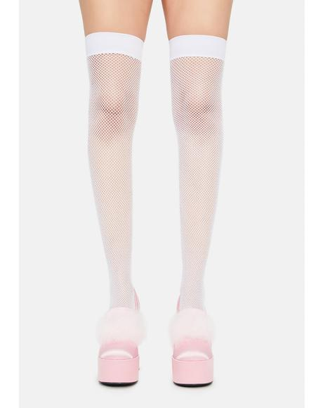 Pure Dare It Spandex Fishnet Thigh Highs