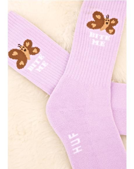 Butterfly Cute Sock