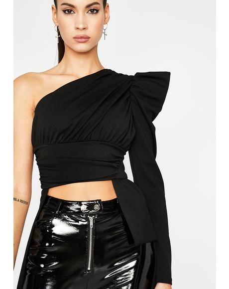 Noir Highs No Lows Off The Shoulder Top