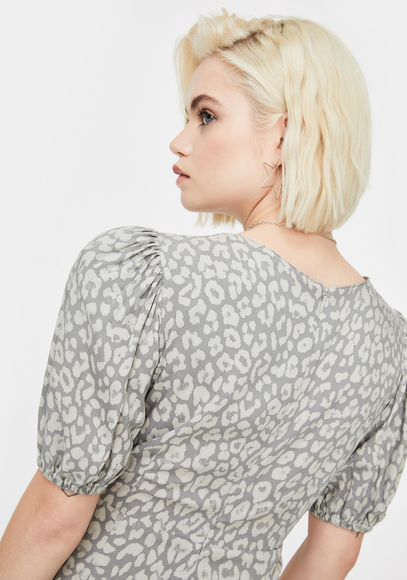 Motel Grey Leopard Elfy Mini Dress