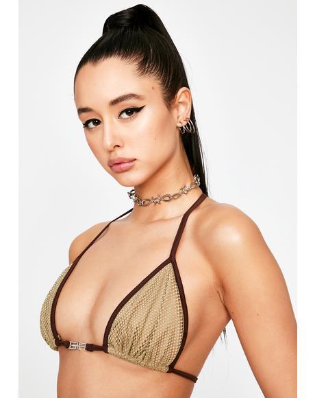 Khaki Alula Bikini Top