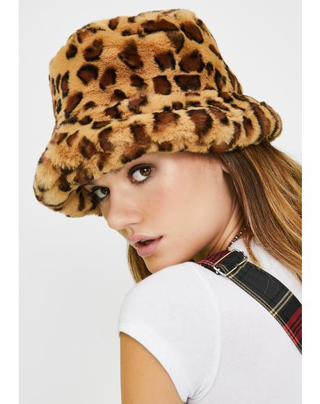 Kitty Here We Go Furry Bucket Hat