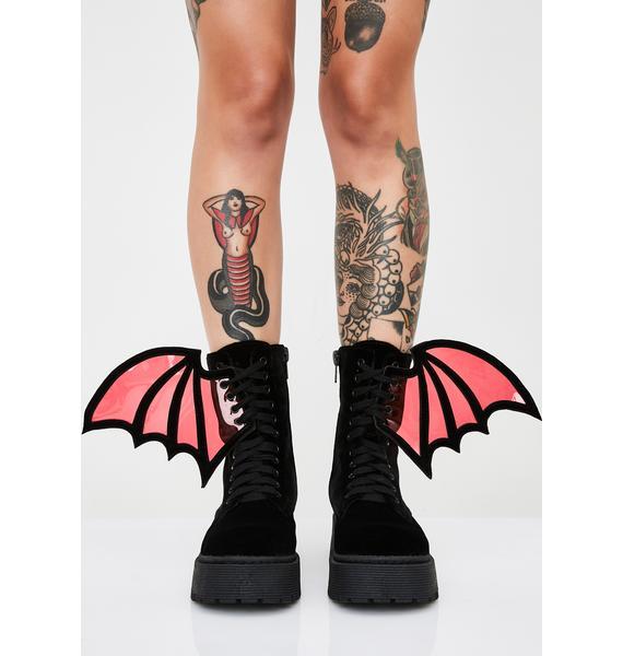 Dolls Kill Under My Wing Platform Boots