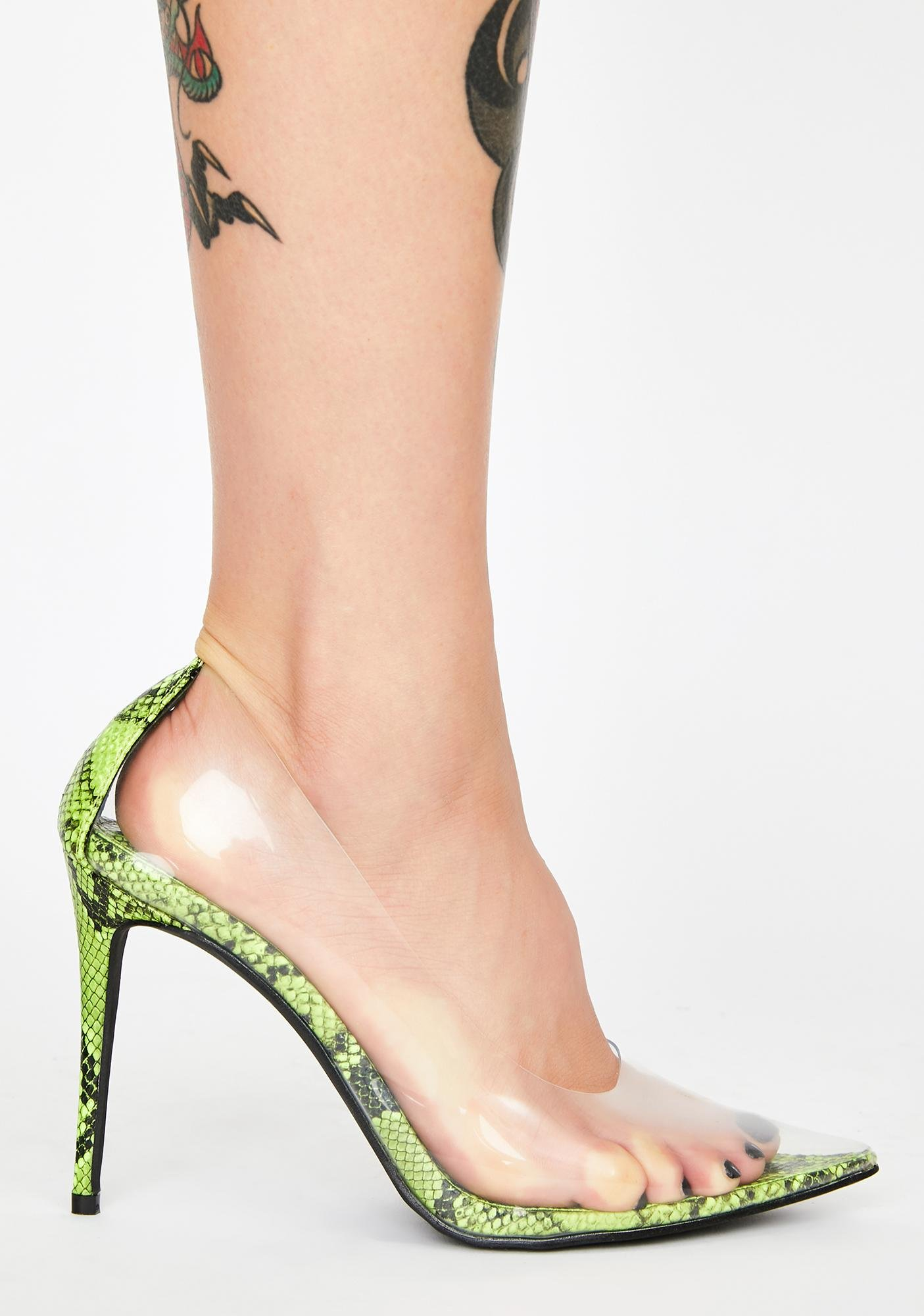 Serpent Clearly Feisty Snakeskin Pumps