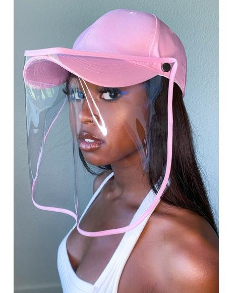 Pink Safety Shield Hat