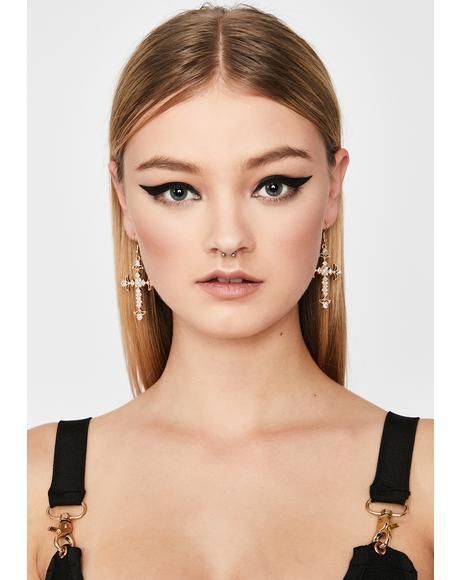 Holy One Cross Earrings