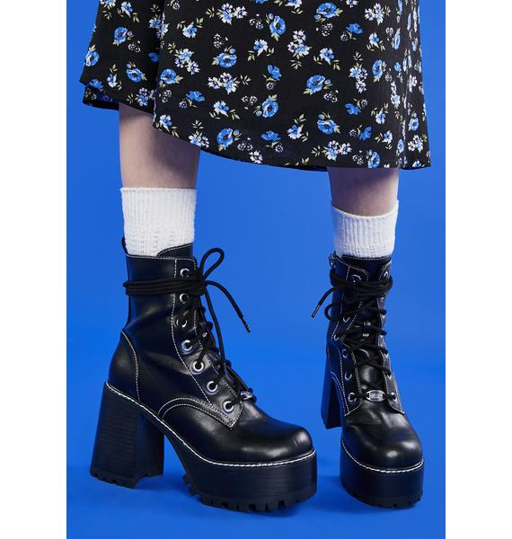 dELiA*s by Dolls Kill My Happy Ending Platform Boots