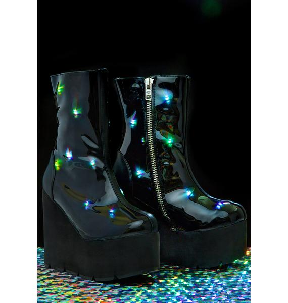 Current Mood Party Monster Light-Up Boots