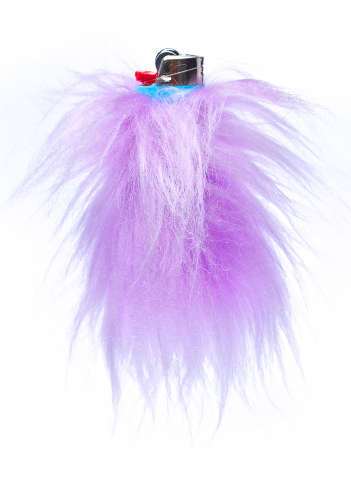 Kerenika Lite Up Lilac Fur Lighter Holder