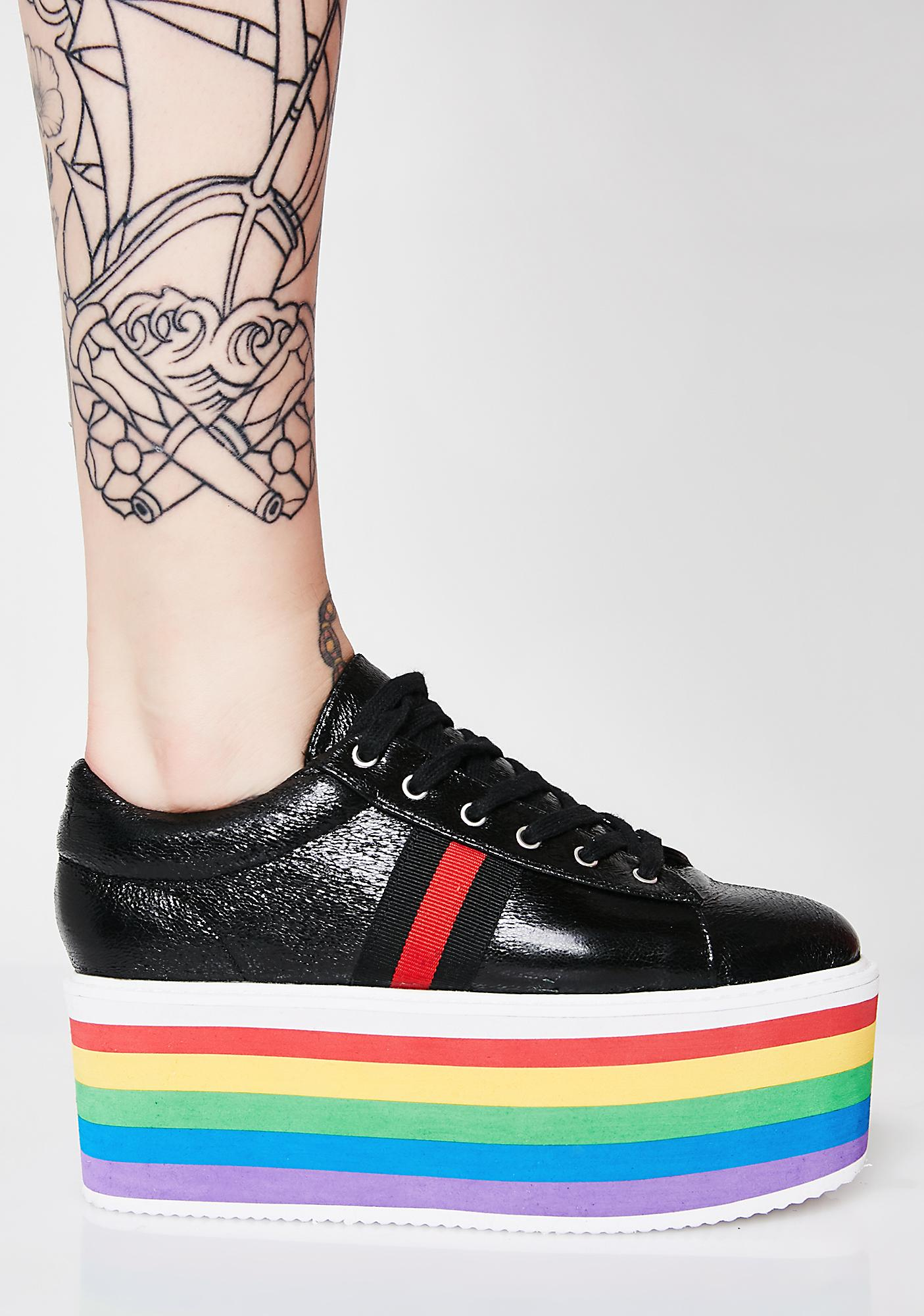 Spin Me Around Platform Sneakers